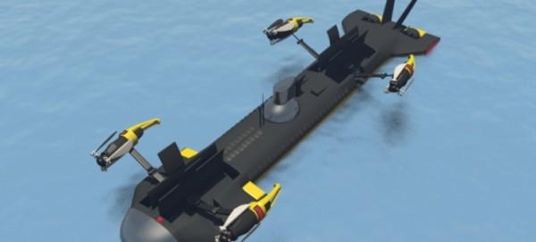 世界第一架能飛能潛水的無人機發布